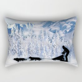 Dogsledding Rectangular Pillow