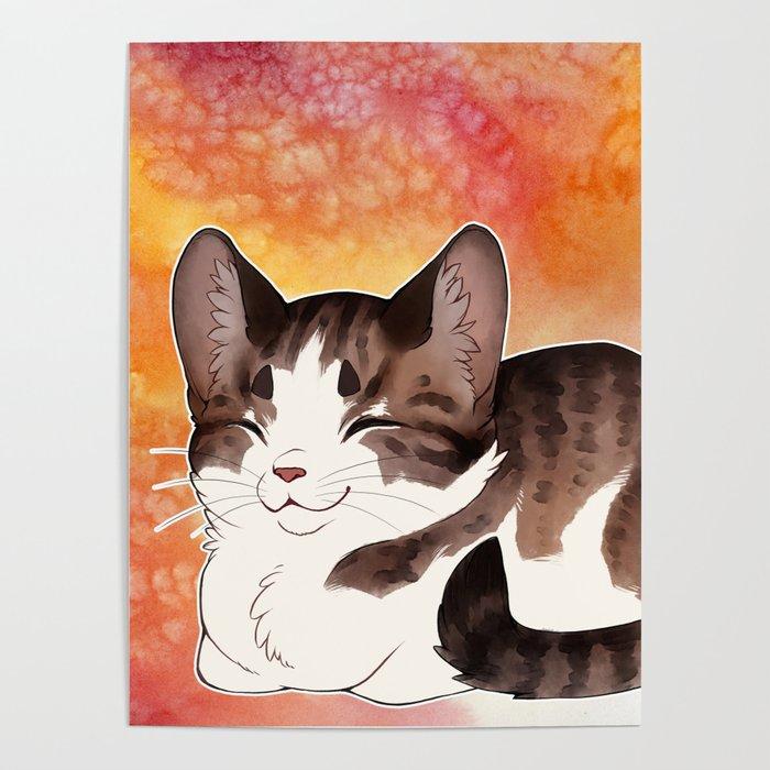 Little Cat Loaf Poster