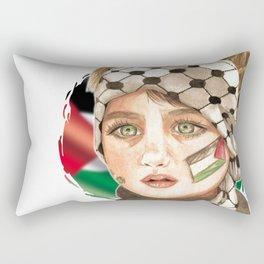 Free Palestine in watercolor Rectangular Pillow