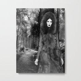 Ghost In A Wolf Fur Coat Metal Print
