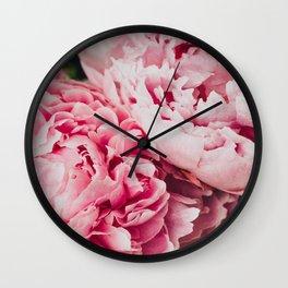 PEONY CLUSTER Wall Clock