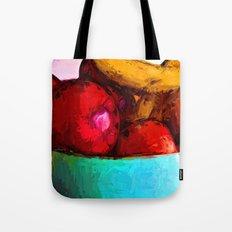 Yellow Bananas and Red Apples Tote Bag