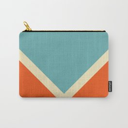 Surfing Summer Retro Style Stripes Akycha Carry-All Pouch
