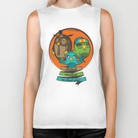 school Biker Tanks featuring school by blablasah