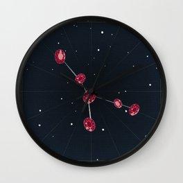 Cancer + July Rubies Wall Clock