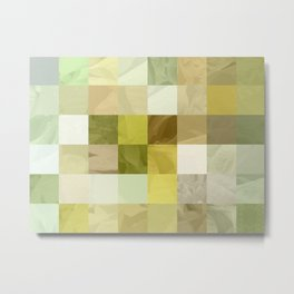 Pale Yellow Poinsettia 1 Abstract Rectangles 3 Metal Print