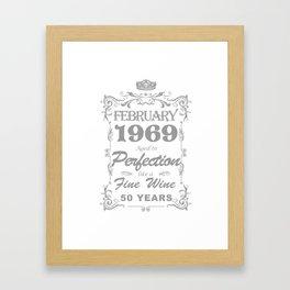 February 1969 50th Birthday Framed Art Print