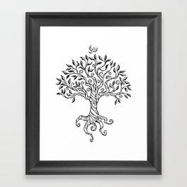 Shirley's Tree BW Framed Art Print