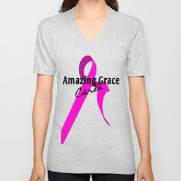 Pink Ribbon Unisex V-Neck