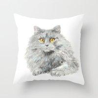 zelda Throw Pillows featuring Zelda by Priscilla Moore