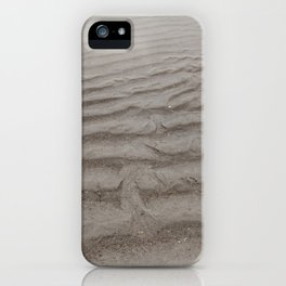 Ripples of Sand at the Shore iPhone Case