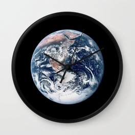 Apollo 17 - Iconic Blue Marble Photograph Wall Clock