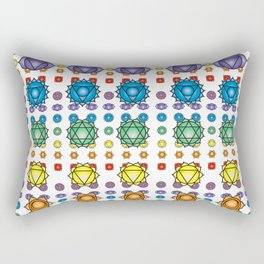 Chakra's pattern Rectangular Pillow