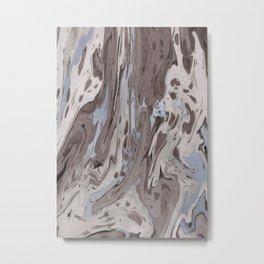 Mocha Marble Metal Print