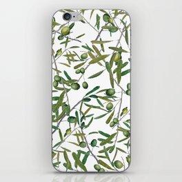 olive pattern iPhone Skin