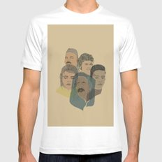 Arabian Nights Portraits MEDIUM Mens Fitted Tee White