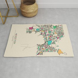 Colorful City Maps: Henderson, Nevada Rug