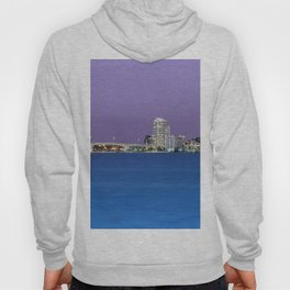 Downtown Clearwater, Florida at Night Hoody
