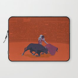 España - Spanish Bullfighting Classic Travel Poster Laptop Sleeve