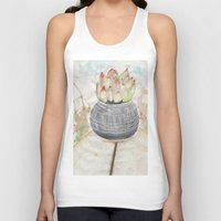 succulent Tank Tops featuring Succulent by Kim Ly