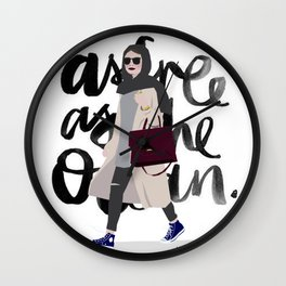 free as the ocean Wall Clock