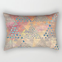 TRIANGLES DOTS LEAVES PATTERN-2 Rectangular Pillow