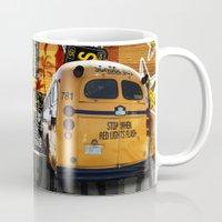 san diego Mugs featuring SAN DIEGO by MFY ★ design lab