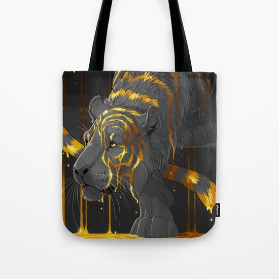 molten tiger Tote Bag