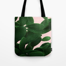 Cactus On Pink Tote Bag