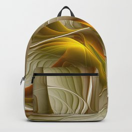 Abstract With Colors Of Precious Metals, Fractal Art Backpack