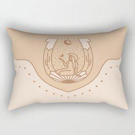Good Fortune Gal - Neutrals  Rectangular Pillow
