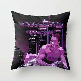 Van Damme vs. Robocop fighting spirit Throw Pillow