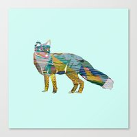 foxes Canvas Prints featuring Foxes by nessieness