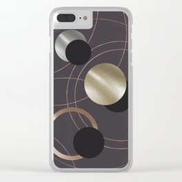 Golden Eclipses Clear iPhone Case