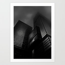 Downtown Toronto Fogfest No 15 Art Print
