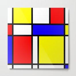 Mondrian 4 #art #mondrian #artprint Metal Print