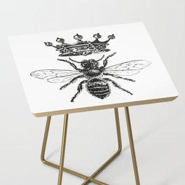 Queen Bee | Black and White Side Table