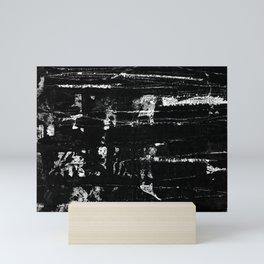 Distressed Grunge 102 in B&W Mini Art Print