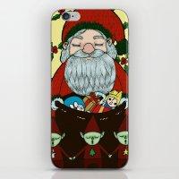 doraemon iPhone & iPod Skins featuring Santa by nu boniglio