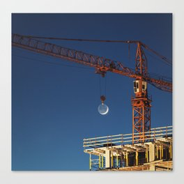 Lifting the Moon Canvas Print