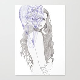 Wolf Woman Canvas Print
