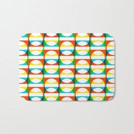 Geometric Pattern 171 (colorful circle squares) Bath Mat