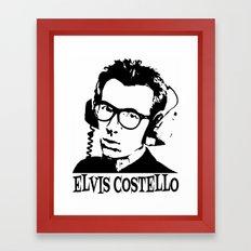 Elvis Costello   Headphones Framed Art Print