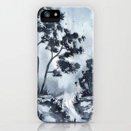 Blue Landscape  iPhone Case