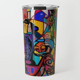INSTRUCTION TO THE BELIEVERS: DREAM OF TRAINS (NO REST FOR THE WEARY) Travel Mug