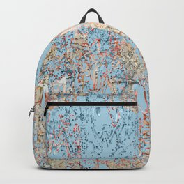 Soft blue with textured background Backpack