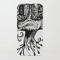 fear and loathing iPhone & iPod Cases featuring Fear & Loathing by Saravo Studio