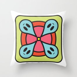 rain circle Throw Pillow