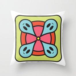rain circle Throw Pillow