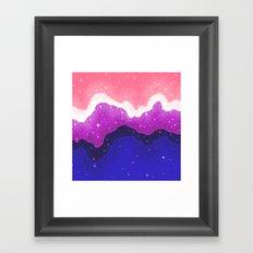 Genderfluid Pride Galaxy Framed Art Print